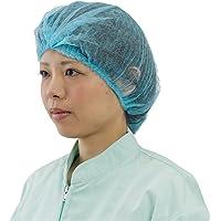 川西工業 クリーンベルズ 不織布使いきりヘアキャップ100枚入 ブルー フリー 【使いきり】 #7045