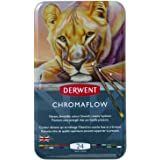 Derwent Chromaflow Colored Pencils | Art Supplies for Drawing, Sketching, Adult Coloring | Premier, Strong Soft Core Multicol