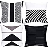 VERTKREA Throw Pillow Covers Modern Geometric Pillowcase Set of 4 Throw Cushion Cover for Bed Couch Sofa Office Decor, 18 × 1