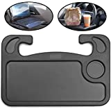 Auto Steering Wheel Desk, Car Table Steering Wheel Tray and Vehicle Seat Mount, Laptop, Tablet, iPad or Notebook Car Travel T