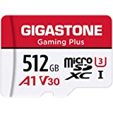 Gigastone 512GB Micro SD Card, Gaming Plus, MicroSDXC Memory Card for Nintendo-Switch Compatible, 100MB/s, 4K Gaming, High Sp