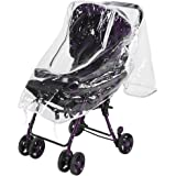 Universal Baby Stroller Rain Cover Waterproof Weather Shield Open Zipper Protects Against Wind Rain Snow Dust Insects(Grey)