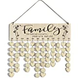 Cocomong Family Birthday Reminder Calendar Board Wall Hanging, Gifts for Mom and Dad, Decorative Birthday Tracker Plaque, Fam