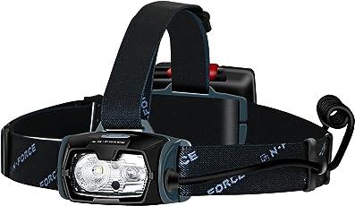 N-FORCE LED ヘッドライト 2018 年モデル センシングモード クイックオフ機能 防水 防塵 耐衝撃