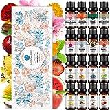 16-Pack RAINBOW ABBY 100% Pure Orangic Essential Oil Set - Rose,Peach,Jasmine,Cherry Blossom,Vanilla,Pineapple,Calendula,Sand