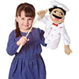 Melissa & Doug Chef Puppet with Detachable Wooden Rod for Animated Gestures^Melissa & Doug Chef Puppet with Detachable Wooden