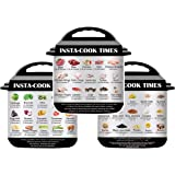 Pot Magnetic Cheat Sheet Set, 3 Pack Food Images Sticker Compatible with Instant Pot, Food Images Magnet Cooking Times Quick