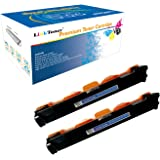 LinkToner Compatible Toner Cartridge Replacement High Yield for Brother TN1000 BK 2 Pack Laser Printer DCP-1510, DCP-1511, DC