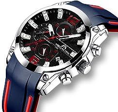 [メガリス]MEGALITH 腕時計 時計メンズ アナログクオーツ防水ウオッチ 日付表示 おしゃれ ラグジュアリー ビジネス カジュアル 男性腕時計