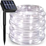 Solar Rope Lights, 66 Feet 200 LED 8 Modes Solar Rope String Lights Outdoor Fairy Lights Rope Waterproof Tube Lights with Sol