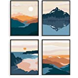 Nature Wall Art Prints Landscape Mountain Decor - by Haus and Hues | Mid-Century Wall Art | Modern Wall Decor Mountain Wall A