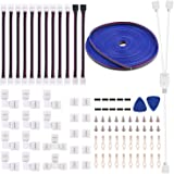 5050 4Pin LED Strip Connector Kit - 10mm RGB LED Connector Kit Includes 32.8FT RGB Extension Cable 10x LED Strip Jumper 10x L
