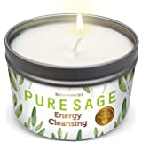 The Sunny Factory MAGNIFICENT101 Pure White Sage Smudge Candle for Home Energy Cleansing, Banishes Negative Energy I Purifica