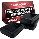 SlipToGrip Bed and Furniture Stopper (4 Pack Black)