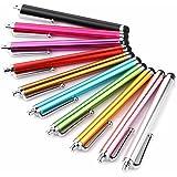 タッチペン スマートフォンタッチペン タブレット スタイラスペン 10本セット ランダムな色 すべてのタッチスクリーンに対応