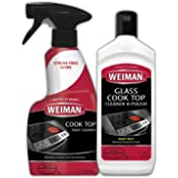 Weiman Glass Cook Top Cleaner 10 oz bottle and Cook Top Daily Cleaner 12 fl oz trigger Package