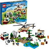 LEGO 60302 City Wildlife Rescue Operation Vet Clinic Set, with Animal Figures and Helicopter Toy for Kids 6+ Years Old