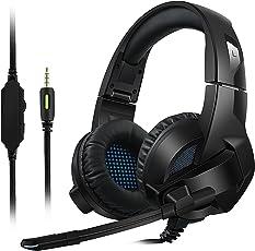 kayapy ゲーミングヘッドセット 高音質 高集音性 マイク付き 収納可能 PC パソコン スカイプ fps 対応  ゲーム用ヘッドホン 黒い
