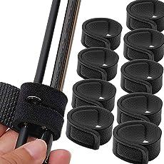 Lix&Rix 釣りロッドベルト 釣り竿用結びバンド 黒 5/10本セット