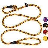 Coolrunner Dog Rope Leash, 5 FT Pet Slip Lead, Dog Training Leash, Standard Adjustable Pet Nylon Leash for Small Medium Dogs