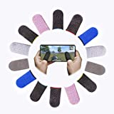 Shougua Mobile Game Controller Finger Sleeve Sets [14 Pack],Smooth Thin Anti-Sweat Breathable Full Touch Screen Sensitive Sho