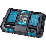 WaxPar 2口充電器 互換充電器 DC18RD マキタ 18v 14.4v バッテリ 対応 BL1430 BL1440 BL1450 BL1460 BL1815 BL1830 BL1840 BL1850 BL1860 BL1430B BL1460