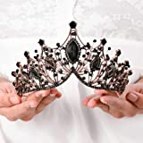 Cagora Baroque Queen Crowns Crystal Wedding Crowns and Tiaras for Brides and Bridesmaids Rhinestones Prom Festival Costume Cr