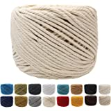 (4mm x 100m(About 109 yd)) - (4mm x 100m(About 109 yd)) Handmade Decorations Natural Cotton Bohemia Macrame DIY Wall Hanging