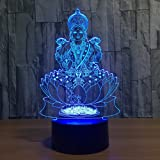 7 Color Changing Night Lamp 3D Atmosphere Bulbing Light 3D Visual Illusion LED Lamp for Kids Toy Christmas Birthday Gifts (Bu