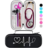 BOVKE Travel Carrying Case for 3M Littmann Classic III Stethoscope - Extra Room for Taylor Percussion Reflex Hammer and Reusa