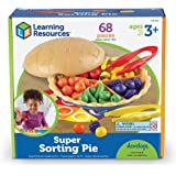 Learning Resources LER6216 Super Sorting Pie, Fine Motor Toy, Early Number, Patterns, 68 Pieces, Grades Pre-K/Ages 3+