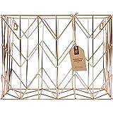 U Brands 854U02-06 Hanging File Desk Organizer, Copper/Rose Gold