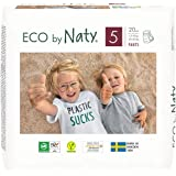 Eco by Naty Pull-Ups Training Pants, (Size 5), 80 Ct, Plant-Based and No Nasty Chemicals