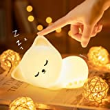 Kitty Night Light for Kids - Color Changing Baby Night Light,Portable and Rechargeable Kid Lamp, Best Gifts for Kids Baby Gir