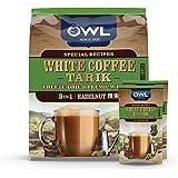 Owl 100% Mandheling 3-in-1 White Coffee Tarik, Hazelnut, 36g (Pack of 15)