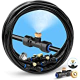 """HOMENOTE Misting Cooling System 26.2FT (8M) Misting Line + 9 Brass Mist Nozzles + a Brass Adapter(3/4"""") Outdoor Mister for Pa"""