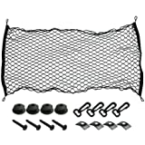 "Rear Cargo Net 45""x23.6"" Flat Elastic Car Cargo Net Truck Pickup Bed Net for Van Trailer SUV"