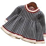 ウィードマップ ベビー服 ワンピース ドレス ニット 長袖 チェック柄 子供服 暖か 厚手 おしゃれ 女の子 幼児 0…