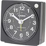 CASIO(カシオ) 目覚まし時計 電波 ブラック アナログ ミニサイズ ライト 付き TQ-750J-1JF