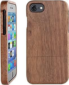 木製アイフォン7/7s保護ケース ウッドiPhone 7/7sケース 100%天然木採用 人気ウッド製アイフォンカバー (4.7インチ ウォルナット制)