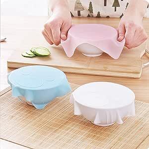 MEIYE シリコンラップ エコラップ 鍋敷き 電子レンジ・冷蔵庫・食洗機適用(3枚入り)