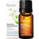 Gya Labs Organic German Chamomile Essential Oil - Acne Treatment for Dry & Sensitive Skin - Sweet & Herbaceous for Relaxation
