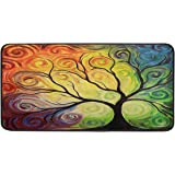 Colorful Rainbow Tree Of Life Branch Kitchen Floor Mat Abstract Tree Of Life Summer Spring Autumn Winter Comfort Mats Entrywa