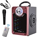 JMFinger Portable Bluetooth Speaker with Subwoofer Rich Bass Wireless Stereo Outdoor/Indoor PA Speakers,DJ Lights, Microphone