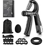 Hand Grip Strengthener Smart Counting, Adjustable Hand Grip Strengthener Kit(5-in-1 Pack),Forearm Hand Gripper with Carry Bag