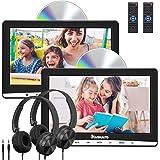 "NAVISKAUTO Upgraded 10.1"" Dual Car DVD Players with 2 Headphones Support AV Out & in Last Memory Region Free Digital Multimed"