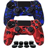 Hikfly Silicone Gel Controller Cover Skin Protector Compatible for Sony Playstation 4 PS4/PS4 Slim/PS4 Pro Controller (2X Con