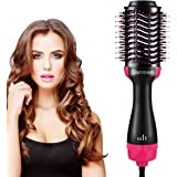 AU Plug Hot Air Brush, Qianmian Professional One Step Hot Dryer Brush & Volumizer Styler Comb, 4-in-1 Negative Ion Straighten