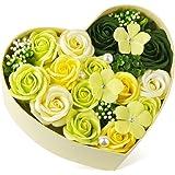 バラ型ソープフラワー ハートフラワー形状ギフトボックス 誕生日 記念日 先生の日 母の日 バレンタインデー 昇進 転居など最適としてのプレゼント…