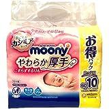 moony(ムーニー)【おしりふき】やわらか厚手 こすらずするりんっ 詰替 600枚(60枚×10)